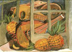 Mandolinas y piñas (1930). Rufino Tamayo.