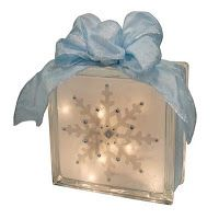 Snowflake Glass Block   Crafts Direct Blog