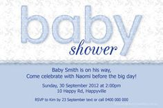 Print your own invitation. Baby Shower Invite - Jelly Text Design