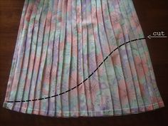 Rookie mag: How to make a high-low skirt in less than 15 minutes