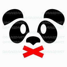Panda vector svg, dxf, eps, png (300dpi) cdr, ai, pdf de Garageartdesign en Etsy