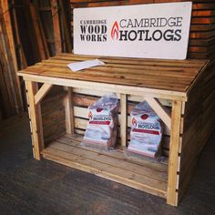 Logstore made from reclaimed wood 120cm high x 120cm wide £90
