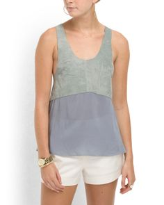 Leather Racerback Tank  (for very athletic and smaller body types, but cute nonetheless!)