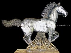 Running Horse Ice Sculpture | Creative Ice Blog | Sculpture In Its ...