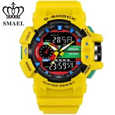 SMAEL Sport Watch Men Digital LED Watch 50M Waterproof Dive Watch Military Men Wristwatch relogios masculino montre homme WS1436 #>=#>=#>=#>=#> Click on the pin to check out discount price, color, size, shipping, etc. Save and like it!