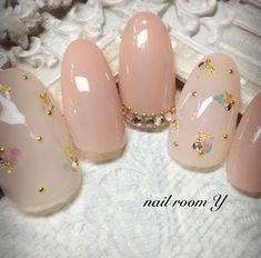 Ideas for nails white and pink gel Asian Nail Art, Asian Nails, Japanese Nail Design, Japanese Nail Art, Bling Nails, Red Nails, Pastel Nails, White Nails, Love Nails