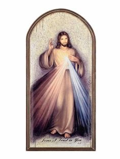 Divine Mercy of Jesus Icon Wall Plaque Lovely Jesus wall plaque for home, chapel or prayer room. The Divine Mercy of Jesus is a traditional figure for most cat