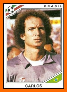 Carlos of Brazil. 1986 World Cup Finals card.