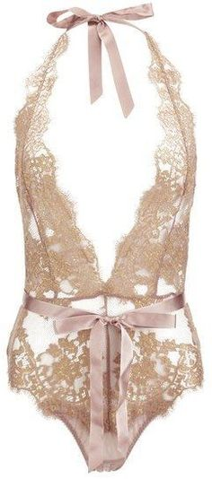 follow me @cushite L'Agent by Agent Provocateur Women's Iana Playsuit Taupe/Gold