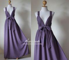 Elegant Purple Bridesmaid Summer Dress by Nuichan, $59.00