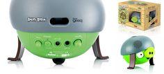 Angry Birds Helmet Pig Speaker With iPhone