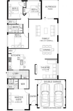 Cottesloe Beach, Single Storey Home Design Foundation Floor Plan ...