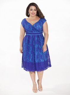 Plus Size Lace Dress in Purple at Curvalicious Clothes ♥ www.curvaliciousc... Save 15% CODE: SVE15