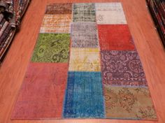 4'6 x 6'7 Free Shipping Turkish Vintage Over-dyed by SILKROADRUGS
