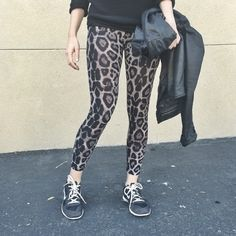 Leopard Print Leggings Meowza! Leggings for whenever you feel like walking on the wild side. Light weight and not sized, but would fit an XS-S perfectly. Worn once - like new! Pants Leggings