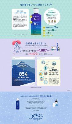 Web Layout Reference #日本 #KOSE #雪肌精 #infographic