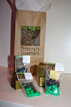 10 Steves Dirt Bead Kits Minecraft Party by acreativeinspiration