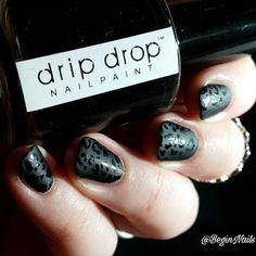 Let's Begin Nails: Digit-al Dozen: Black Leopard Matte Print