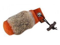 Firedog Standard Dummy 250 g orange mit Kaninchenfellring - Firedog by Mantovani