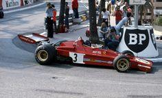 Jacky Ickx in his Ferrari 312B3, Monaco Grand Prix, Monte Carlo, 1973