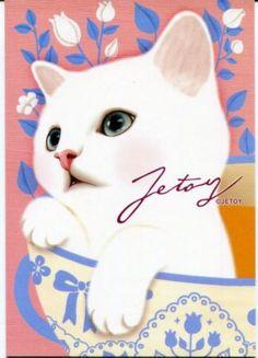 Korea-Jetoy-Choo-Choo-Cat-Postcard-35
