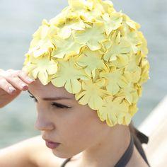 retro swim cap #ghdcandy #yellow