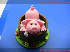 Piggy Cake Topper Tutorial