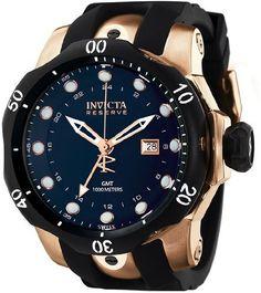 Invicta 7254 Men's Signature Subaqua Venom Rose Gold Plated Black Dial Watch Short Description Invicta Watch: Invicta