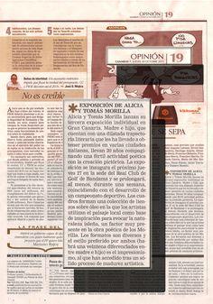 CANARIAS 7 / 20 DE OCTUBRE DE 2011 Periódico Canarias7, Opinión Pg.19 Jueves 20 Octubre 2011  Periódico Canarias7, Opinión Pg.19 Jueves 20 Octubre 2011  URL http://www.artemorilla.com/index.php?ci=269