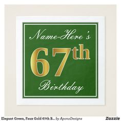 Elegant Brown Faux Gold Birthday Name Napkin - script gifts template templates diy customize personalize special 41st Birthday, Birthday Name, Birthday Diy, Birthday Gifts, Birthday Ideas, 60th Birthday Party Invitations, 30th Birthday Parties, Script, Home Living