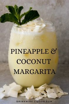 This Pineapple and Coconut Margarita is a unique twist on the classic Margarita. It's an easy to make cocktail that's perfect for any summer party. food and drinks If You Like Pina Coladas, You'll Love a Pineapple Coconut Margarita Easy To Make Cocktails, Fancy Drinks, Easy Summer Cocktails, Summer Drink Recipes, Refreshing Drinks, Yummy Drinks, Food And Drinks, Mix Drinks, Yummy Food