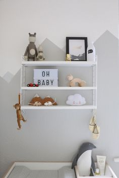 Mountain Nursery Wallpaint - Wandgestaltung im Babyzimmer by eat blog love