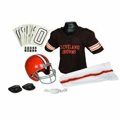 NFL Cleveland Browns Deluxe Youth Uniform Set, Medium by Franklin. $34.99. Franklin Sports NFL Cleveland Browns Deluxe Youth Uniform Set