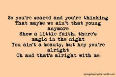 thunder road lyrics - Bruce Springsteen