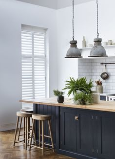 Kitchen Shutters are not just stylish, they are both practical and easy to clean. Discover our complete range of Kitchen Shutters at Shutterly Fabulous today! Cheap Kitchen Floor, Kitchen On A Budget, Home Decor Kitchen, Space Kitchen, Kitchen Ideas, Kitchen Inspiration, Kitchen Designs, Kitchen Shutters, Interior Window Shutters