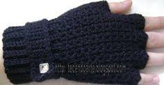 Resultado de imagem para como fazer luvas de croche