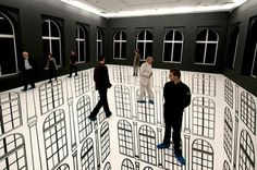 A Room Without a Floor    Stunning optical illusion made by Regina Silveira.