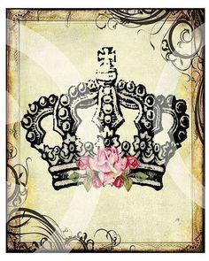 ReGaL SeT of 9 RoYaL Queen Princess CRoWNs printable art