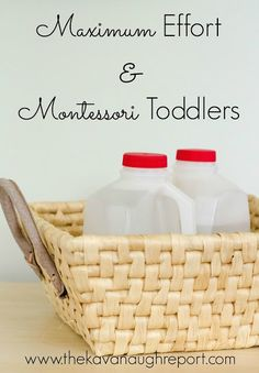 Montessori Toddlers and Maximum Effort -- why do toddlers carry around heavy objects!? And, an easy DIY!