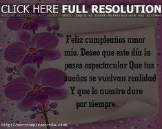 Saludos de cumpleaños Amor: aunque no estemos juntos Dado, Club, Plants, Happy Birthday Love, Love Of My Life, Happiness, Postcards, Birthday Greetings, Thoughts