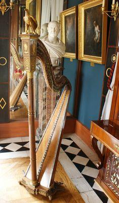 Music room harp