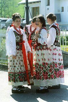 Polish Clothing, Folk Clothing, Ethnic Fashion, Love Fashion, Fashion Design, Poland Costume, Polish Folk Art, Art Populaire, Beautiful Costumes