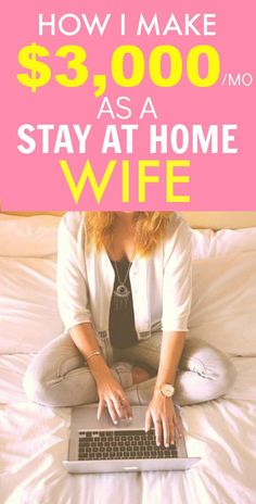 How she made $3k as a stay at home wife is AMAZING! I'm so inspired and her tips have SERIOUSLY helped me out! I've already started making income! I'm so glad I found this post! SO pinning for later!