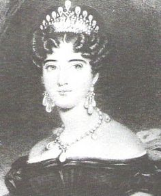 Augusta, Duchess of Cambridge. Nee Princess and Landgravine of Hesse-Kassel, and a great grandaughter of George I. She married her cousin Adolphus, Duke of Cambridge, the youngest son of George III. They lived in Hannover, as representatives of the British king, who was also king of that country. They were the parents of Princess Mary Adelaide, Duchess of Teck, whose daughter Princess Mary became Queen Consort of England as the wife of George V.