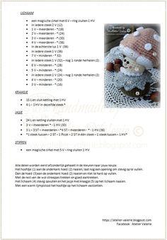 Atelier Valérie: Haak Patronen Crochet Hair Accessories, Crochet Hair Styles, Crochet Gloves, Crochet Toys, Crochet Stitches, Crochet Patterns, Kawaii Crochet, Crochet Fall, Crochet Christmas