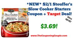Has anyone tried these starter meals? They look yummy! *NEW* $2/1 Stouffer's Slow Cooker Starters Coupon + Target Deal!  Click the link below to get all of the details ► http://www.thecouponingcouple.com/new-21-stouffers-slow-cooker-starters-coupon-target-deal/ #Coupons #Couponing #CouponCommunity  Visit us at http://www.thecouponingcouple.com for more great posts!