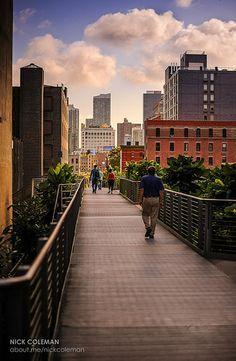 Morning on the Highline, New York, NY