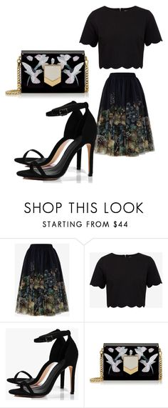 """""""Untitled #42"""" by jaasmina-86 ❤ liked on Polyvore featuring Ted Baker, Boohoo and Jimmy Choo"""