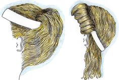 Ancient Greek hairstyles with ribbons