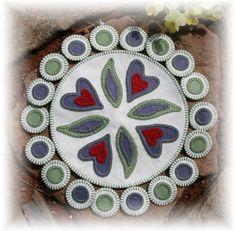 penny rugs, desir penni, heart desir, color, felt penni, pennies, felt craft, penni rug, craft anytim